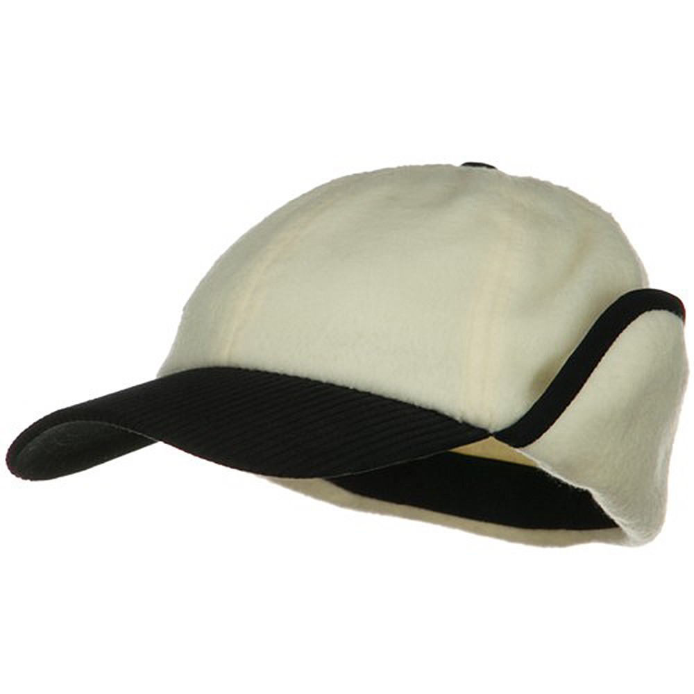Anti Pilling Fleece Cap with Warmer Flap - Natural - Hats and Caps Online Shop - Hip Head Gear