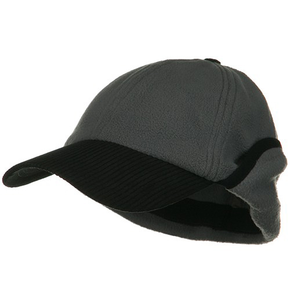 Anti Pilling Fleece Cap with Warmer Flap - Charcoal - Hats and Caps Online Shop - Hip Head Gear