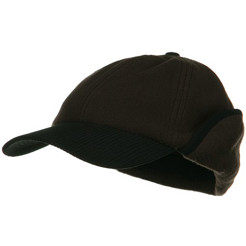 Anti Pilling Fleece Cap with Warmer Flap - Brown - Hats and Caps Online Shop - Hip Head Gear