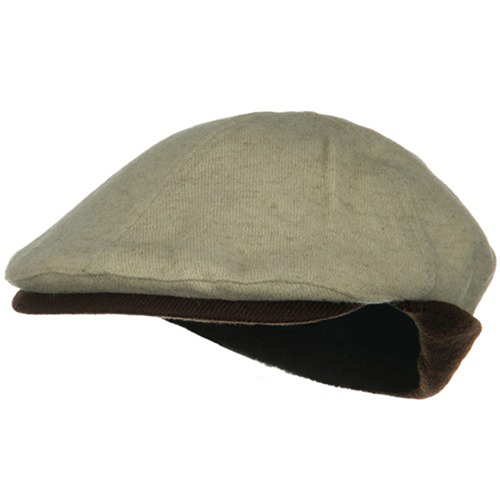 Warmer Flap Wool Ivy Cap - Natural Brown - Hats and Caps Online Shop - Hip Head Gear