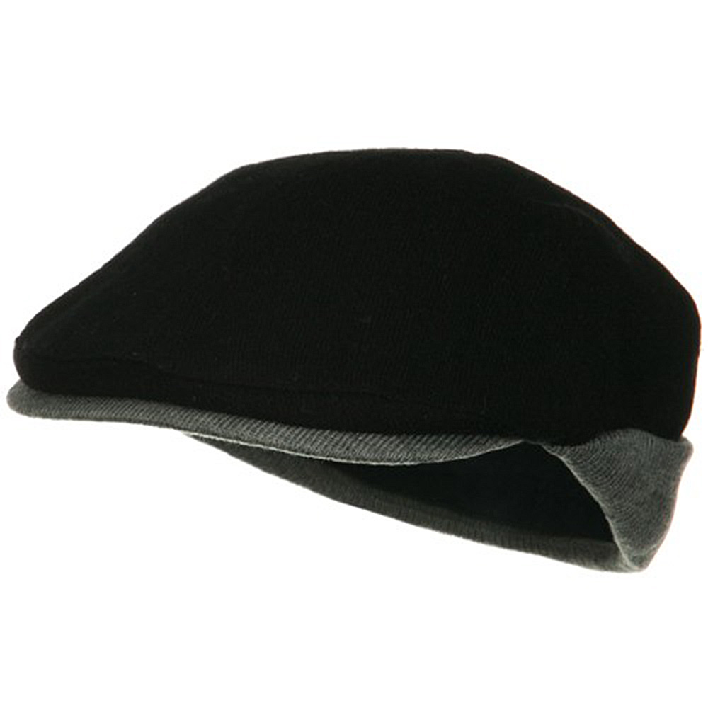 Warmer Flap Wool Ivy Cap - Black Grey - Hats and Caps Online Shop - Hip Head Gear