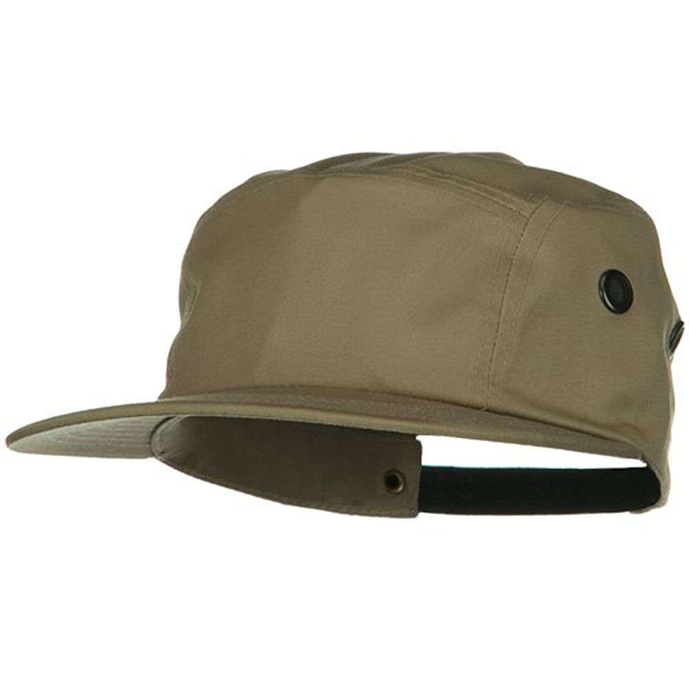 5 Panel Camouflage Twill Cap - Khaki - Hats and Caps Online Shop - Hip Head Gear