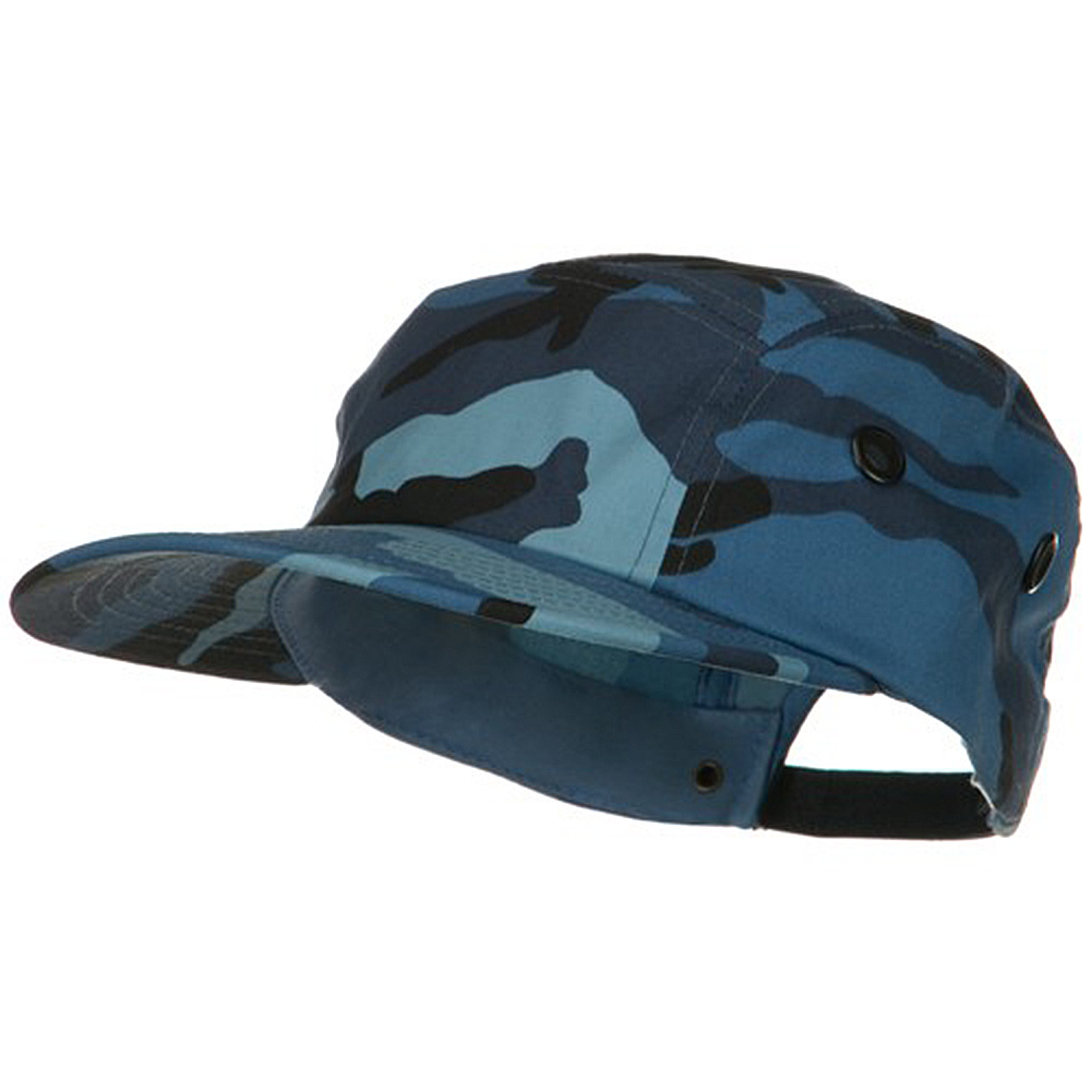 5 Panel Camouflage Twill Cap - Sky - Hats and Caps Online Shop - Hip Head Gear
