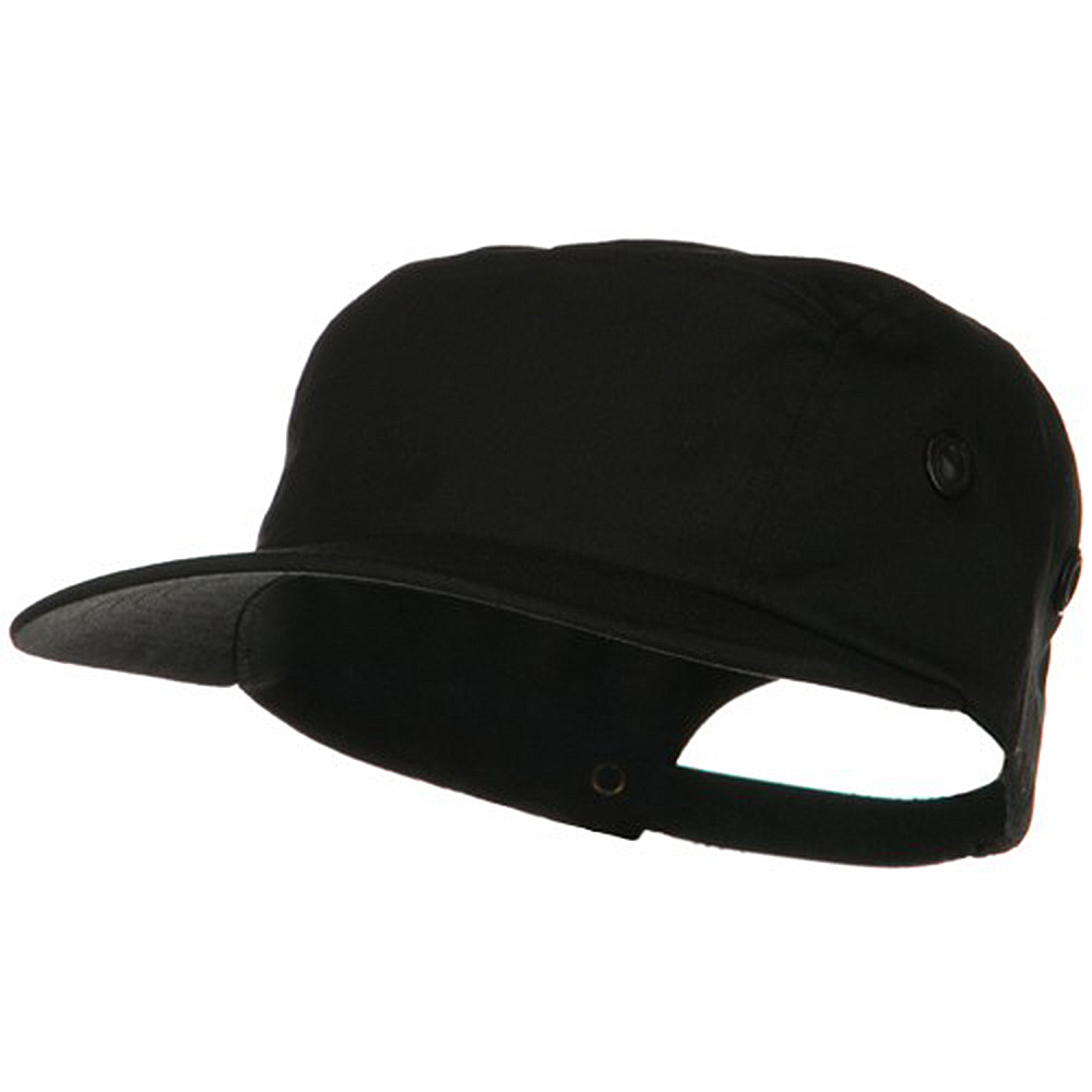 5 Panel Camouflage Twill Cap - Black - Hats and Caps Online Shop - Hip Head Gear