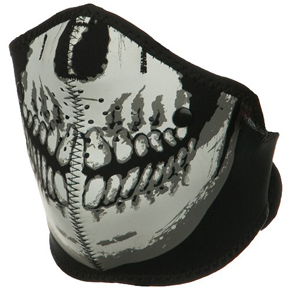 Neo-X Half Face Mask - Skull Face - Hats and Caps Online Shop - Hip Head Gear