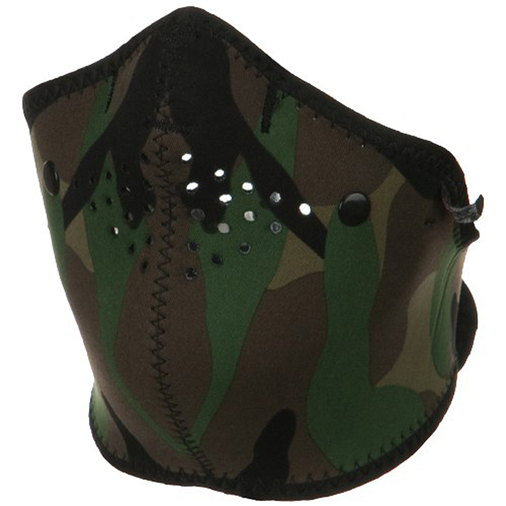 Neo-X Half Face Mask - Woodland Camo - Hats and Caps Online Shop - Hip Head Gear