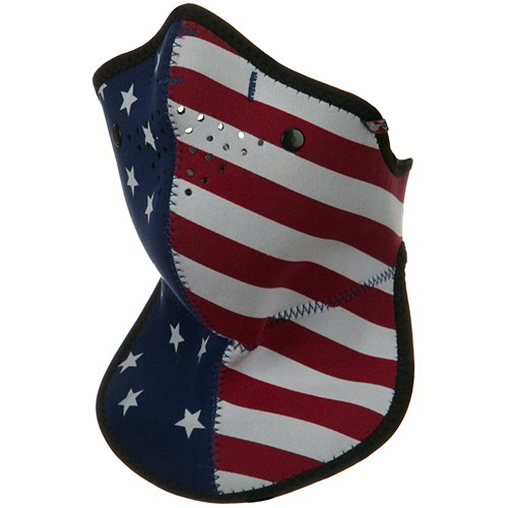 Neo-X Half Face Neck Mask with Removable Filter and Neck Shield - US Flag - Hats and Caps Online Shop - Hip Head Gear
