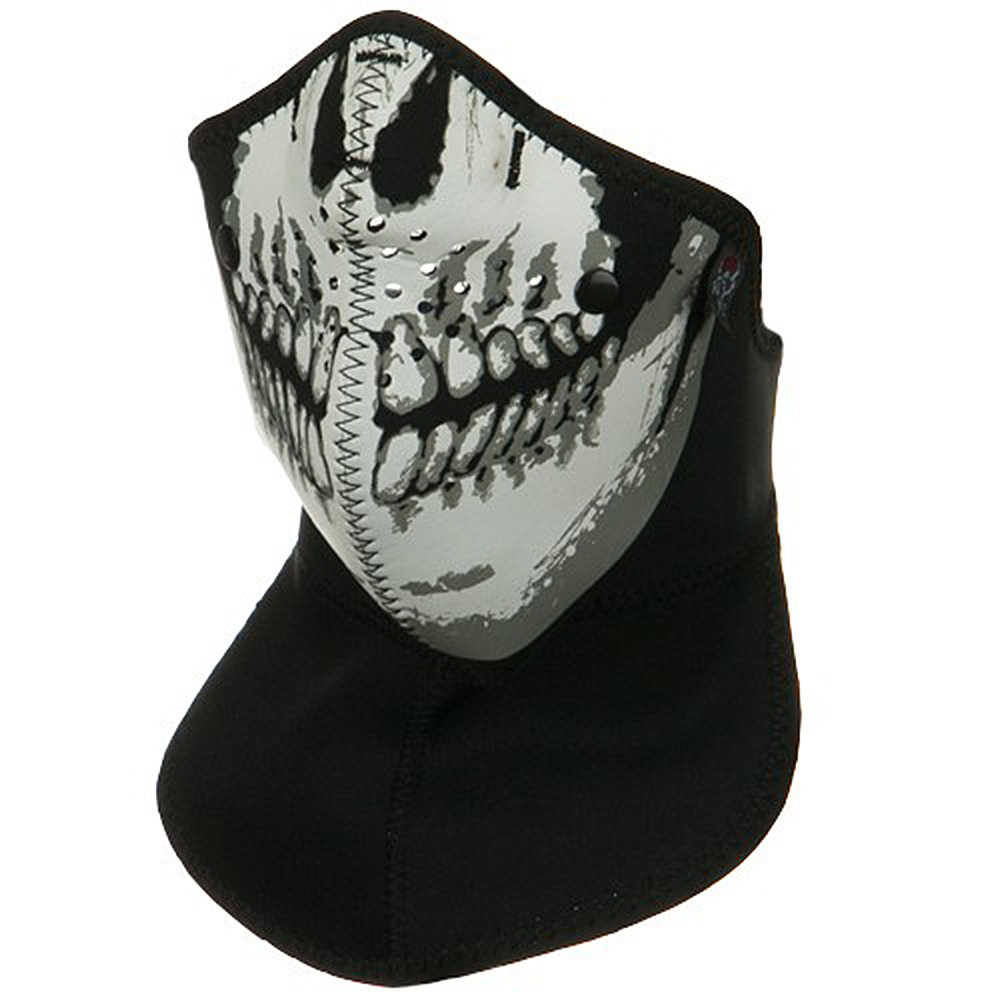 Neo-X Half Face Neck Mask with Removable Filter and Neck Shield- Skull Face - Hats and Caps Online Shop - Hip Head Gear