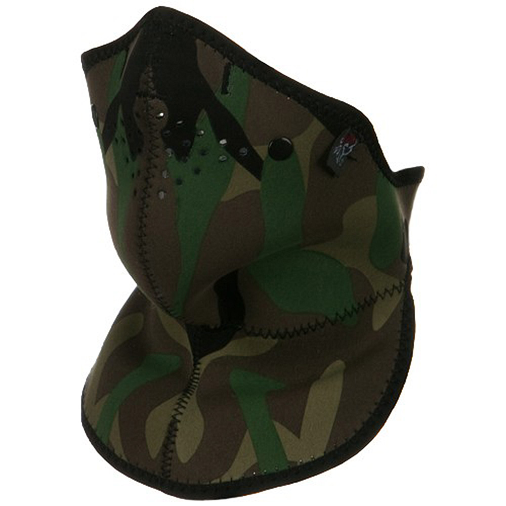 Neo-X Half Face Neck Mask with Removable Filter and Neck Shield- Woodland Camo - Hats and Caps Online Shop - Hip Head Gear
