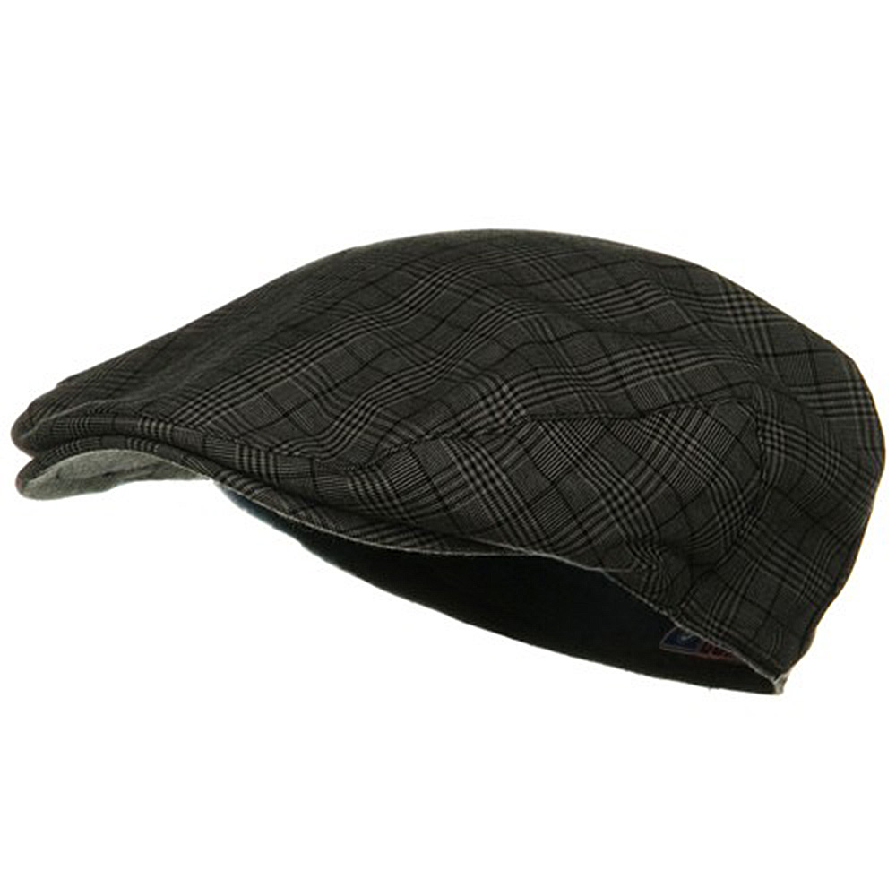Cotton Small Plaid Ivy - Black - Hats and Caps Online Shop - Hip Head Gear