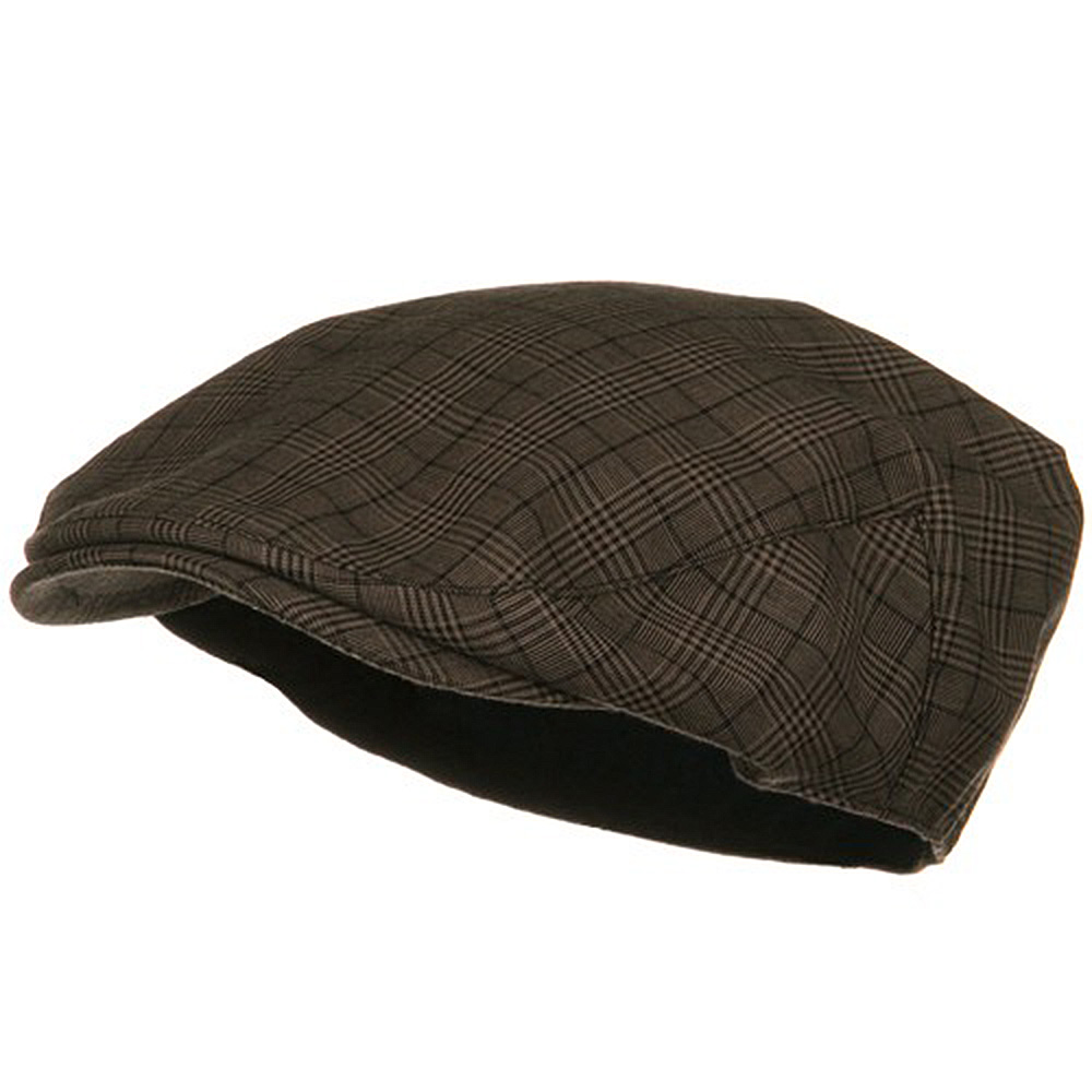 Cotton Small Plaid Ivy - Brown - Hats and Caps Online Shop - Hip Head Gear