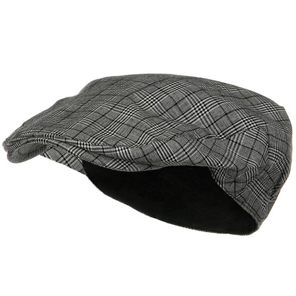 Cotton Small Plaid Ivy - Black White - Hats and Caps Online Shop - Hip Head Gear