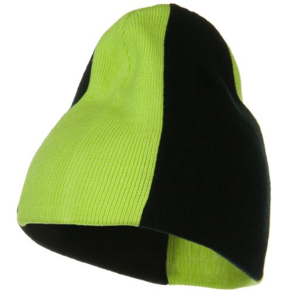 Neon Panels Knit Beanie - Black Yellow - Hats and Caps Online Shop - Hip Head Gear