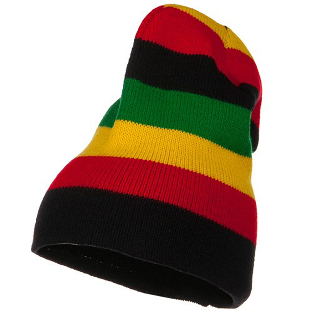Stripe Knit Slouch Beanie - Multi - Hats and Caps Online Shop - Hip Head Gear