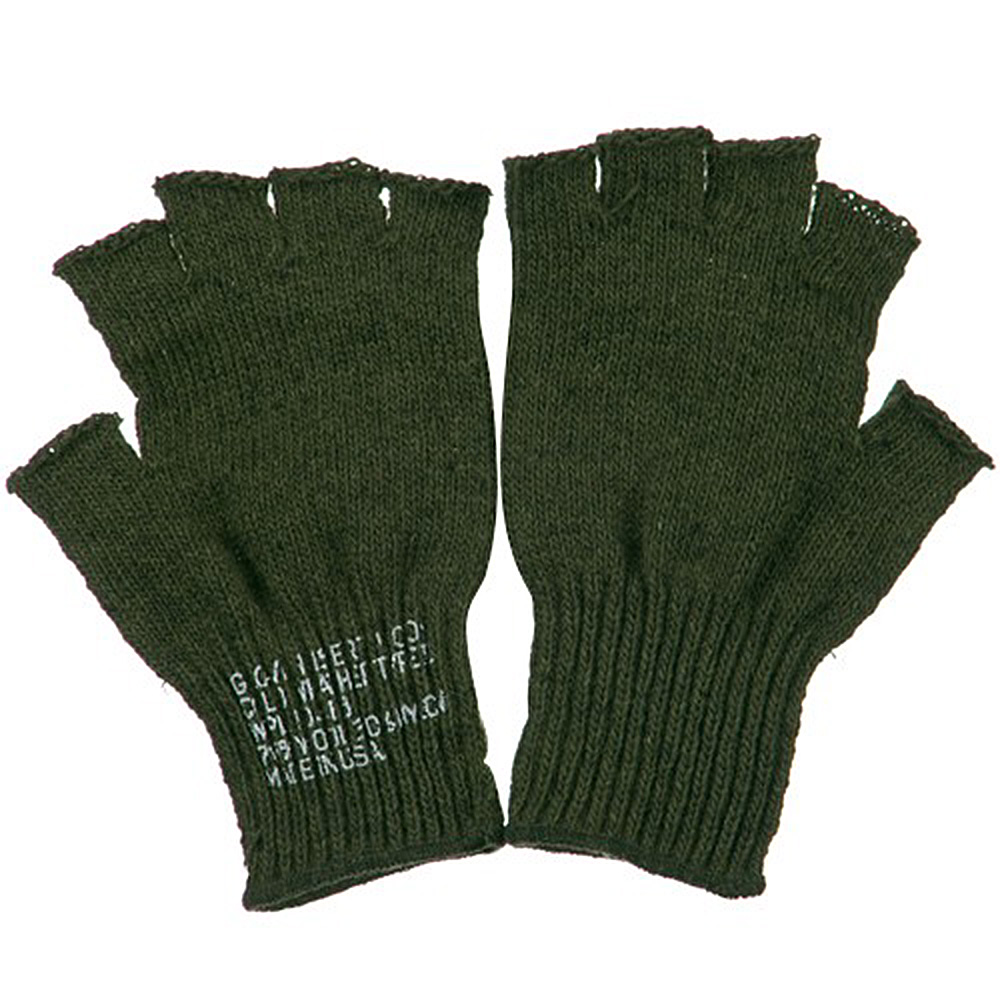 Coin Changer Fingerless Wool Glove - Olive