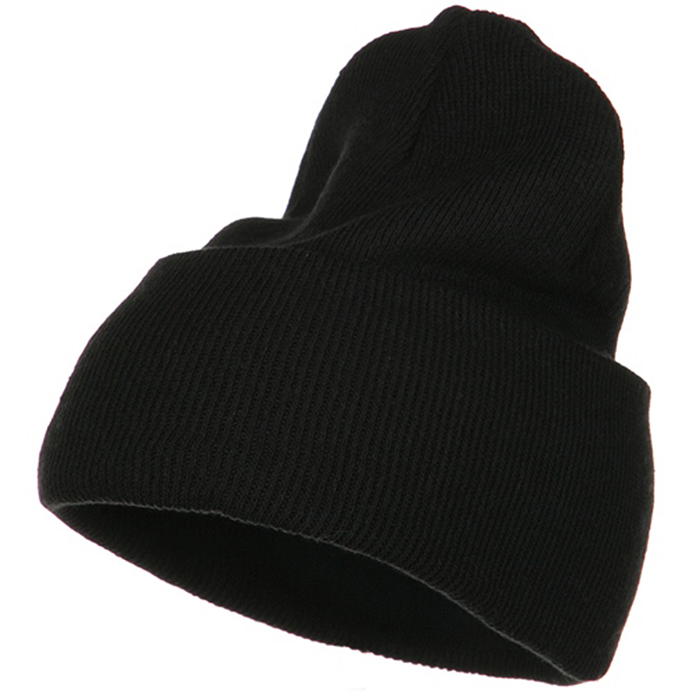 Big Stretch ECO Cotton Long Beanie - Black - Hats and Caps Online Shop - Hip Head Gear