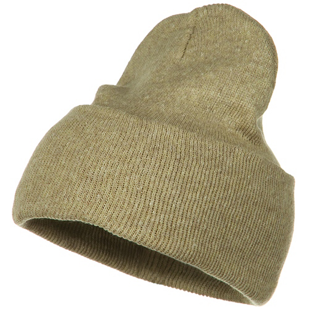 Big Stretch ECO Cotton Long Beanie - Khaki - Hats and Caps Online Shop - Hip Head Gear
