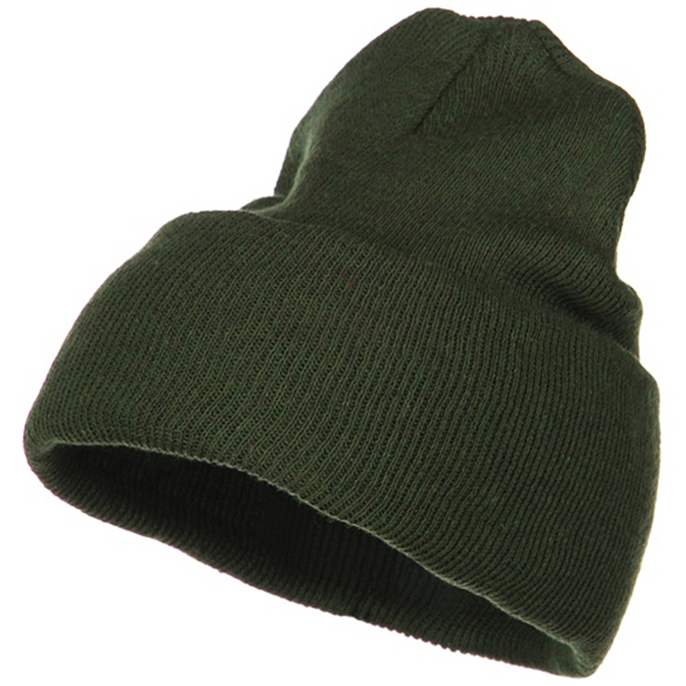 Big Stretch ECO Cotton Long Beanie - Olive - Hats and Caps Online Shop - Hip Head Gear
