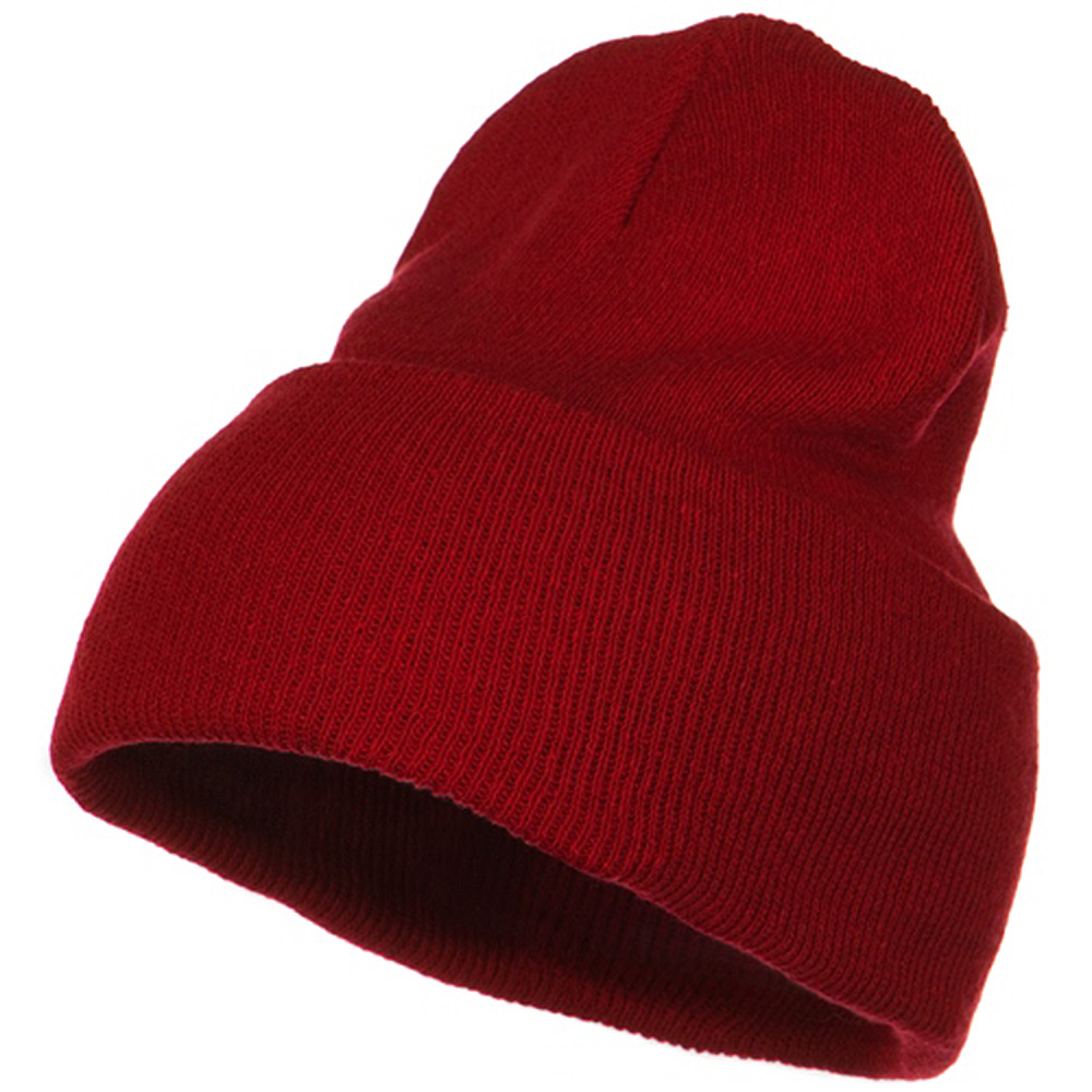 Big Stretch ECO Cotton Long Beanie - Red - Hats and Caps Online Shop - Hip Head Gear