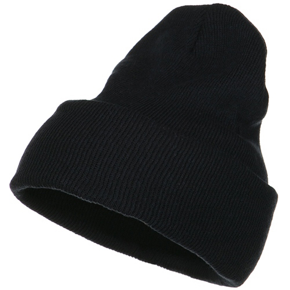 Big Stretch ECO Cotton Long Beanie - Navy - Hats and Caps Online Shop - Hip Head Gear
