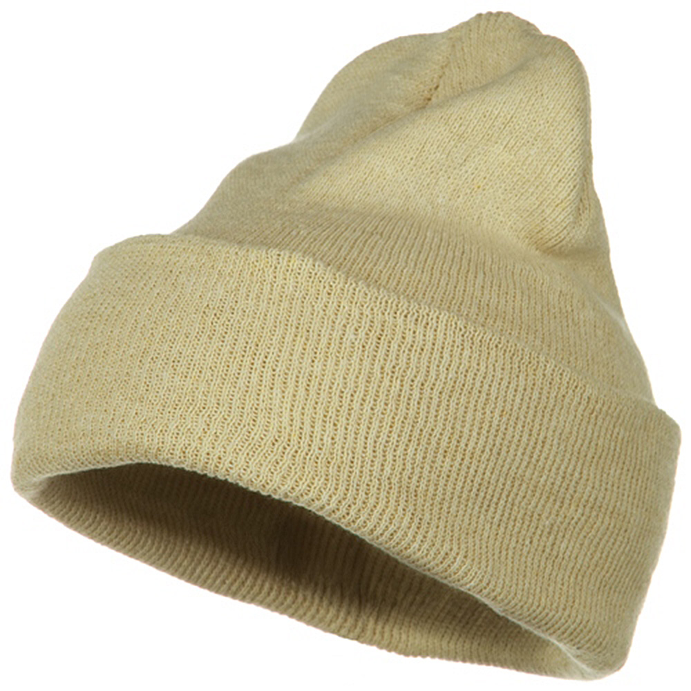Big Stretch ECO Cotton Long Beanie - Beige - Hats and Caps Online Shop - Hip Head Gear
