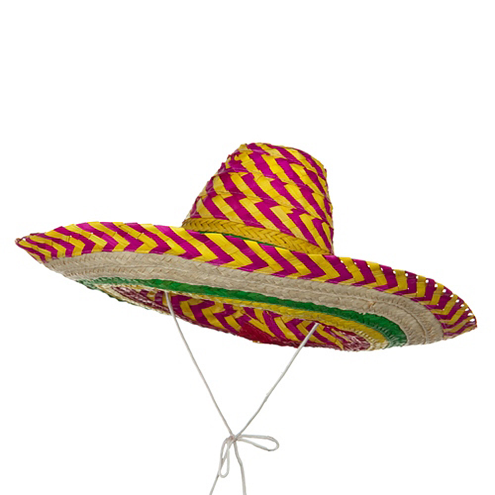 Multi Colored Straw Sombrero - Stripe - Hats and Caps Online Shop - Hip Head Gear