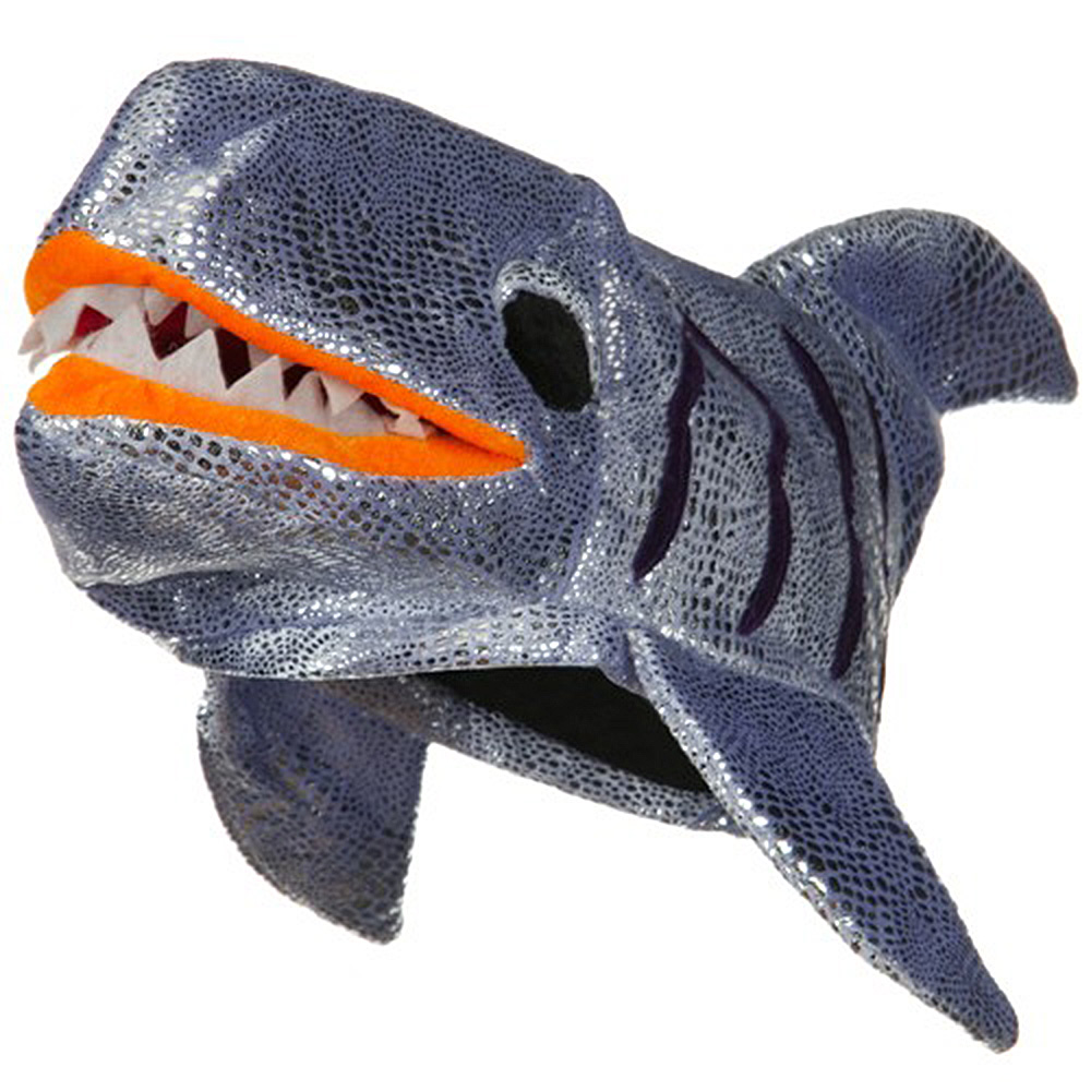 Shiny Shark Hat - Silver - Hats and Caps Online Shop - Hip Head Gear