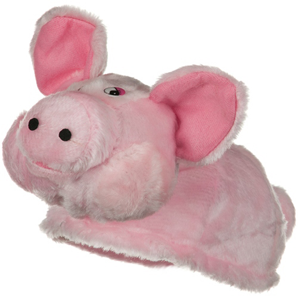 Plush Pig Hat - Pink - Hats and Caps Online Shop - Hip Head Gear