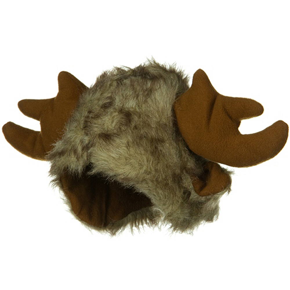 Furry Moose Hat - Brown - Hats and Caps Online Shop - Hip Head Gear