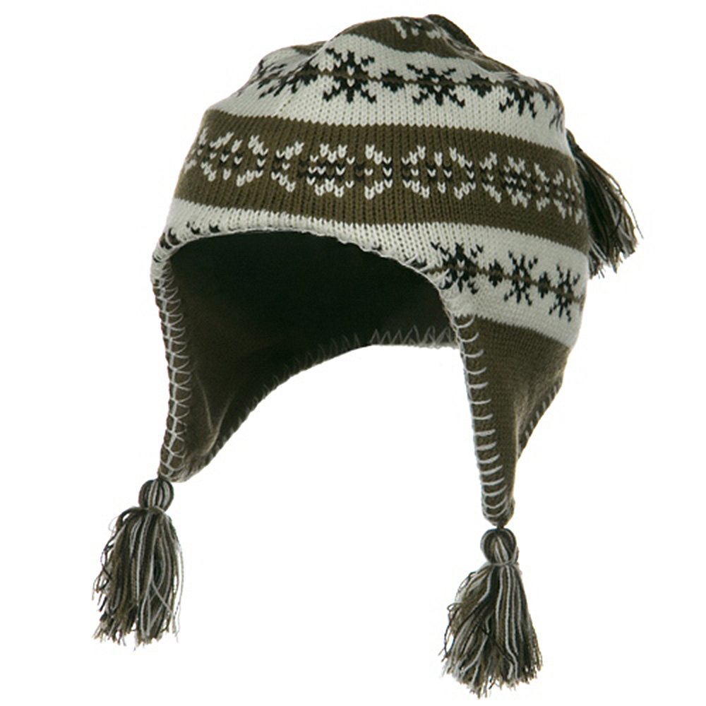Girl's Knit Helmet - Brown - Hats and Caps Online Shop - Hip Head Gear