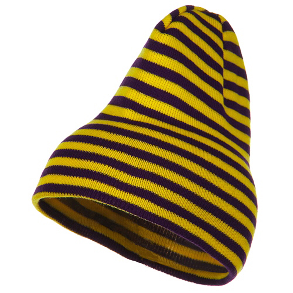 Trendy Striped Beanie - Yellow Purple - Hats and Caps Online Shop - Hip Head Gear