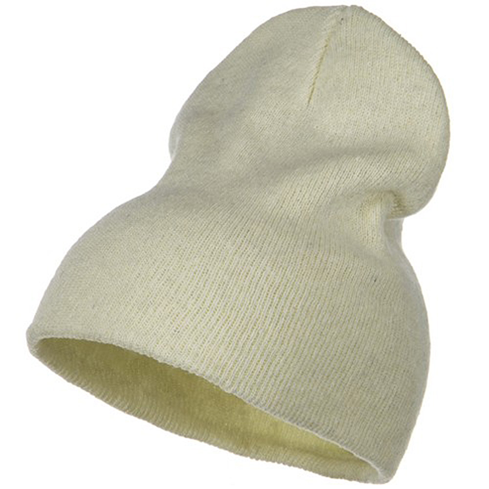 Big Stretch ECO Cotton Short Beanie - Milk - Hats and Caps Online Shop - Hip Head Gear