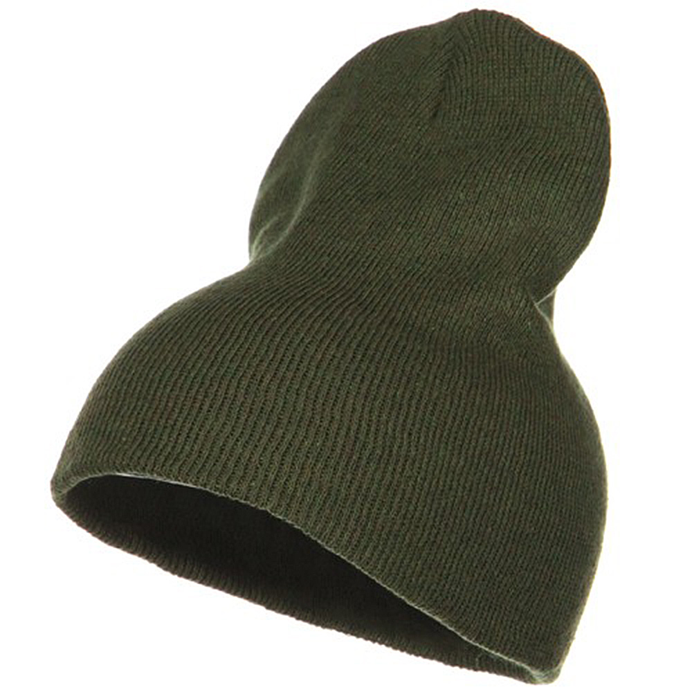 Big Stretch ECO Cotton Short Beanie - Olive - Hats and Caps Online Shop - Hip Head Gear