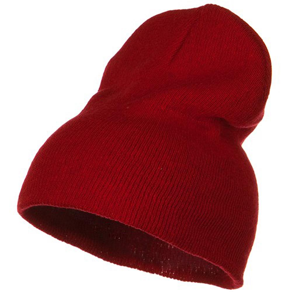 Big Stretch ECO Cotton Short Beanie - Red - Hats and Caps Online Shop - Hip Head Gear