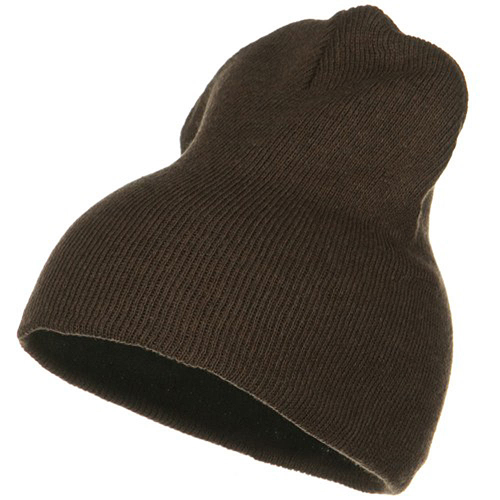 Big Stretch ECO Cotton Short Beanie - Brown - Hats and Caps Online Shop - Hip Head Gear