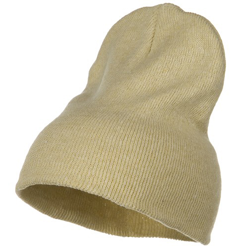 Big Stretch ECO Cotton Short Beanie - Beige - Hats and Caps Online Shop - Hip Head Gear