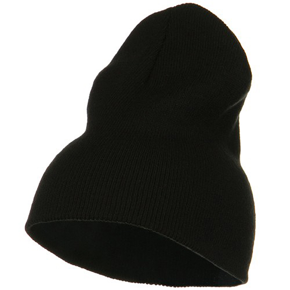 Big Stretch Plain Classic Short Beanie - Black - Hats and Caps Online Shop - Hip Head Gear