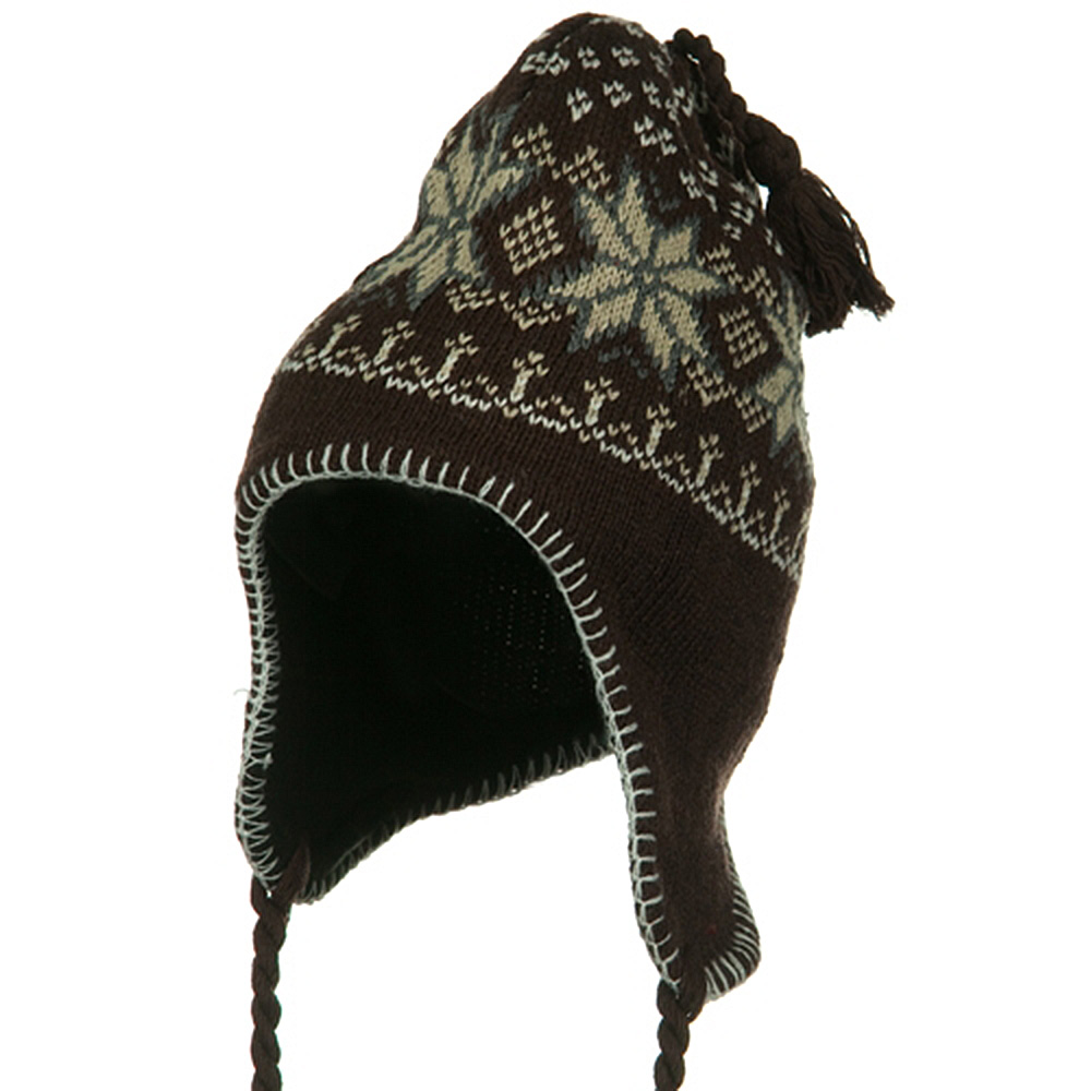 Junior Ear Cover Knit Hat - Brown - Hats and Caps Online Shop - Hip Head Gear