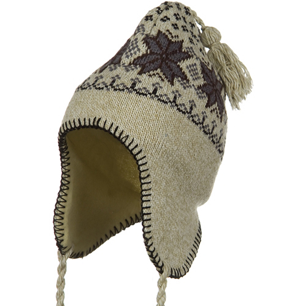 Junior Ear Cover Knit Hat - Taupe - Hats and Caps Online Shop - Hip Head Gear