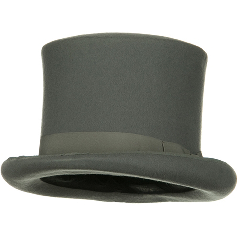 Wool Felt Top Hat Ribbon-  Ribbon Grey - Hats and Caps Online Shop - Hip Head Gear