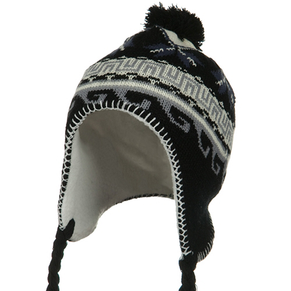 Junior Peruvian Sherpa Lined Hat - Black - Hats and Caps Online Shop - Hip Head Gear