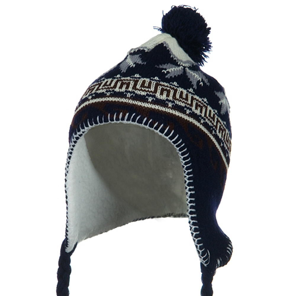 Junior Peruvian Sherpa Lined Hat - Navy - Hats and Caps Online Shop - Hip Head Gear