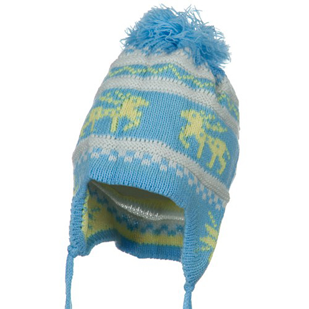 Infant Deer Ear Cover Knit Beanie Hat - Light Blue - Hats and Caps Online Shop - Hip Head Gear