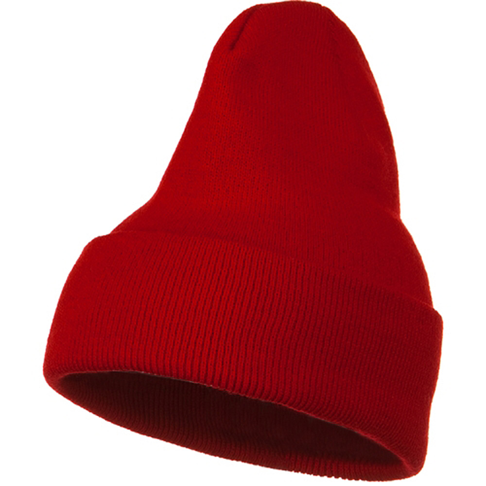 Big Stretch Plain Cuff Long Beanie - Red - Hats and Caps Online Shop - Hip Head Gear