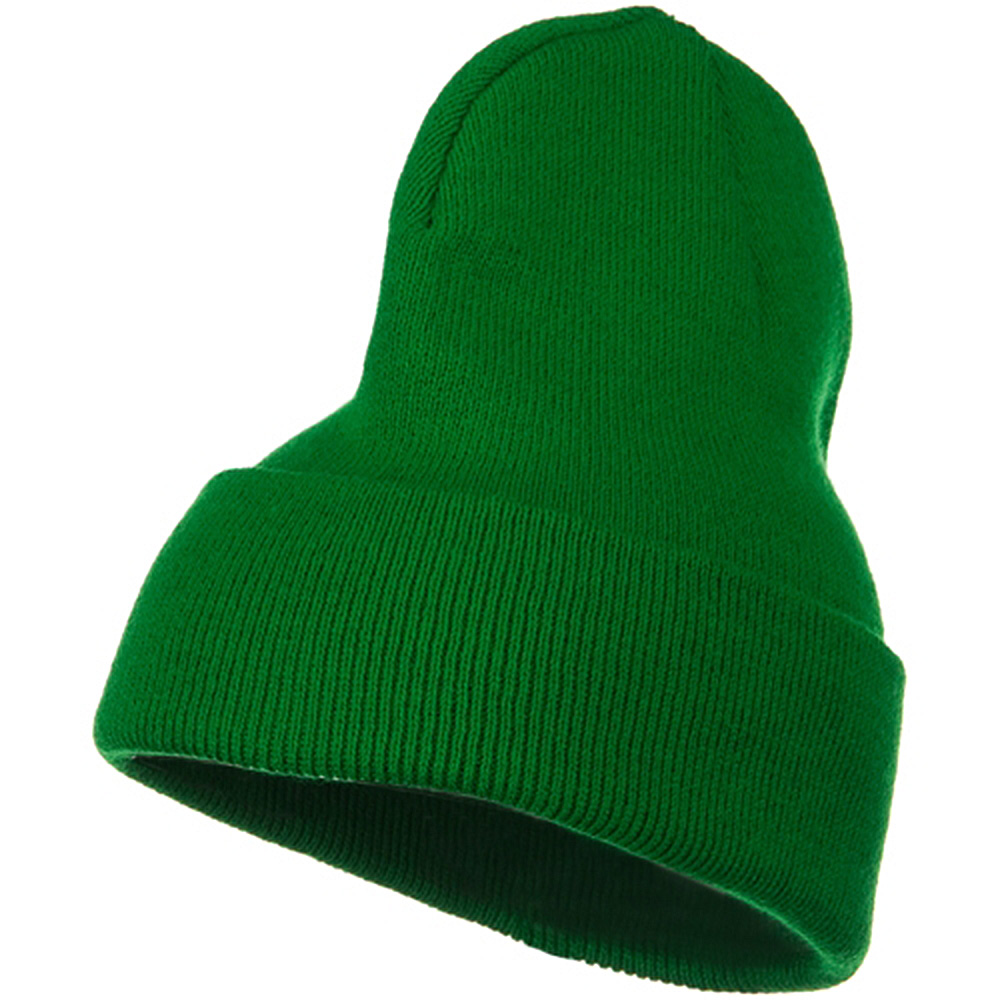Big Stretch Plain Cuff Long Beanie - Kelly - Hats and Caps Online Shop - Hip Head Gear