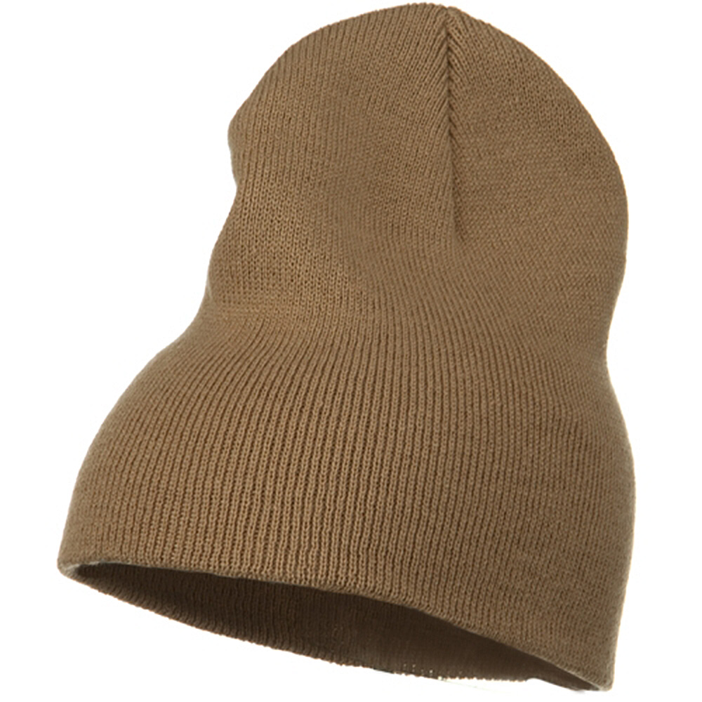 Big Stretch Plain Classic Short Beanie - Sand - Hats and Caps Online Shop - Hip Head Gear