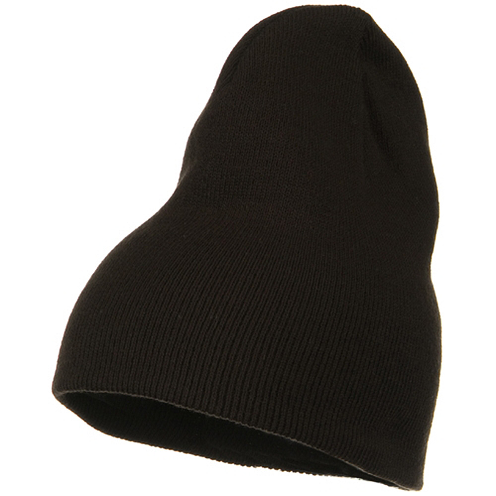 Big Stretch Plain Classic Short Beanie - Brown - Hats and Caps Online Shop - Hip Head Gear