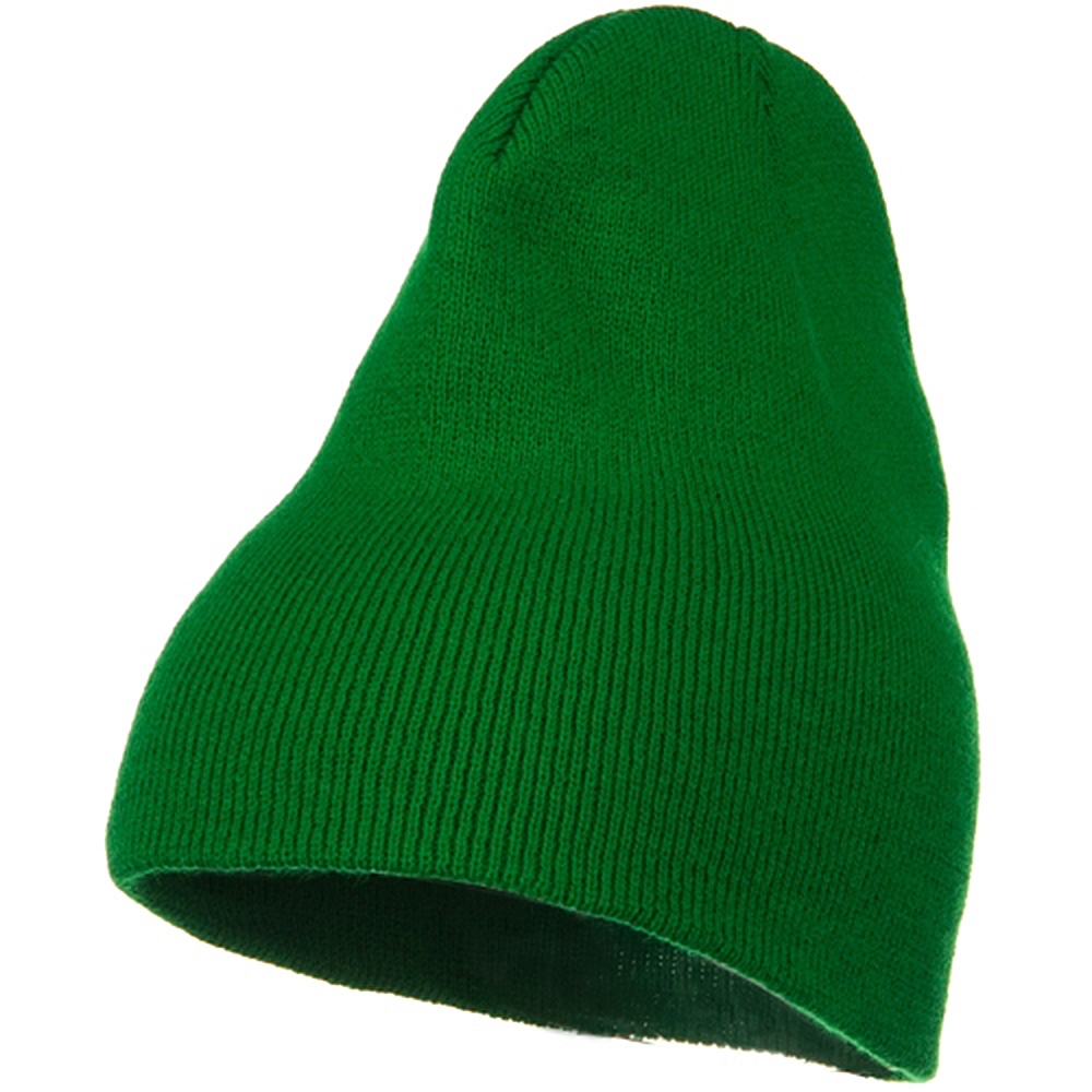 Big Stretch Plain Classic Short Beanie - Kelly - Hats and Caps Online Shop - Hip Head Gear