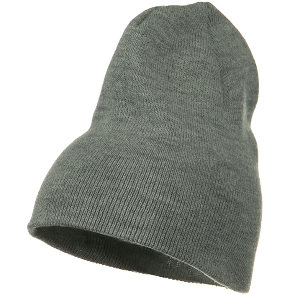 Big Stretch Plain Classic Short Beanie - Grey - Hats and Caps Online Shop - Hip Head Gear
