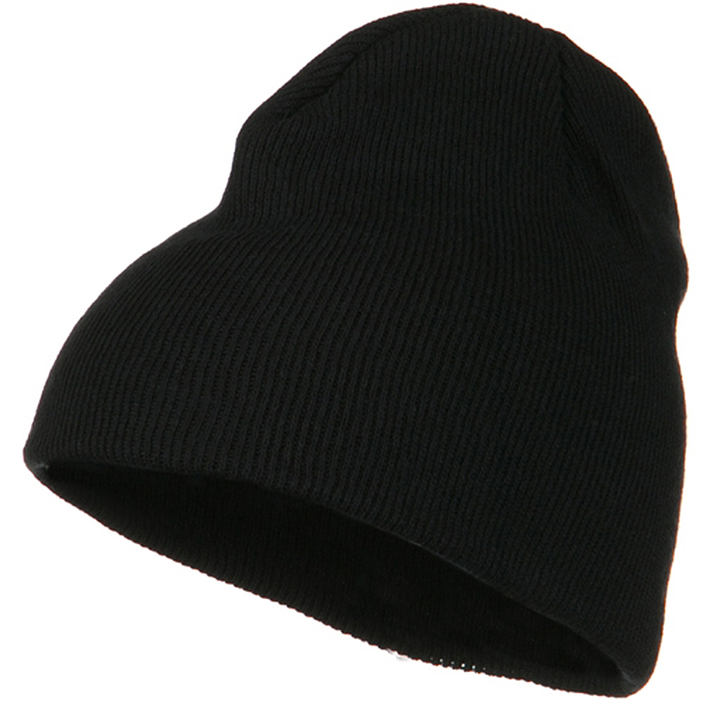 Classic 3 Ply Beanie - Black - Hats and Caps Online Shop - Hip Head Gear